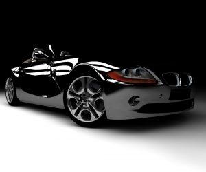 Black Car with gleaming custom coating