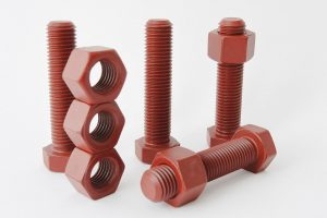 Bolts and nuts with Xylan coating