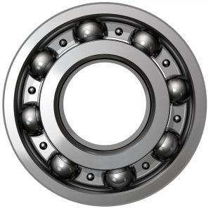 Ball bearings with Molykote lubricant applied.