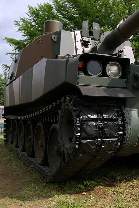 tank coated by Coating Systems for chemical resistance and camouflage