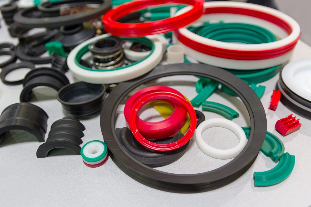 variety of rubber seals awaiting coating by Coating Systems