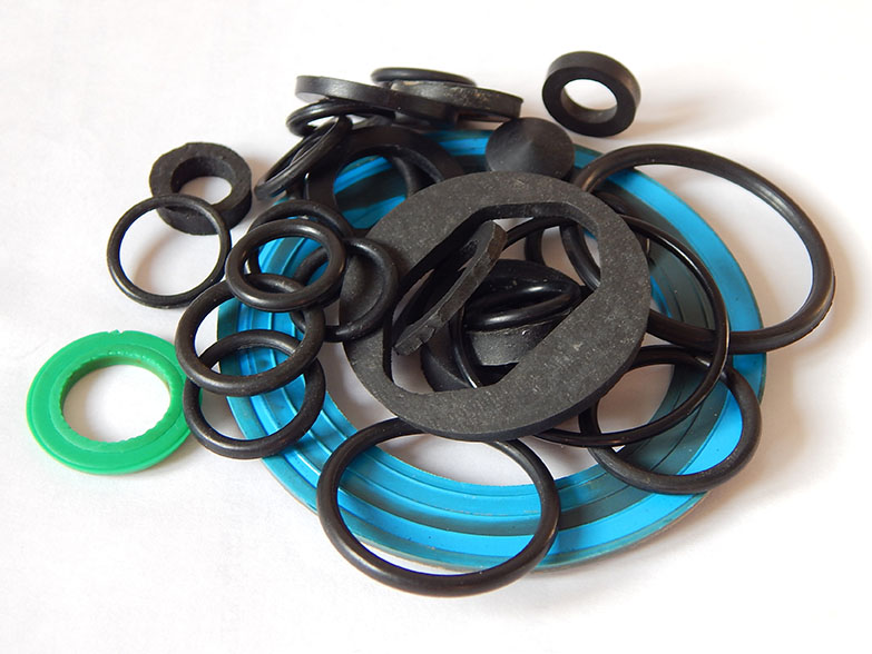 Several rubber lip seals