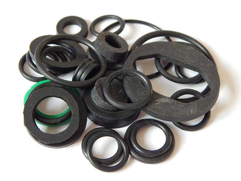 Several O-Rings with rubber seals