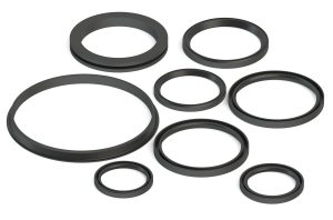 Lip seals for industrial use