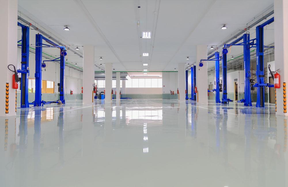 Epoxy Coating on Floor of Auto Service Center