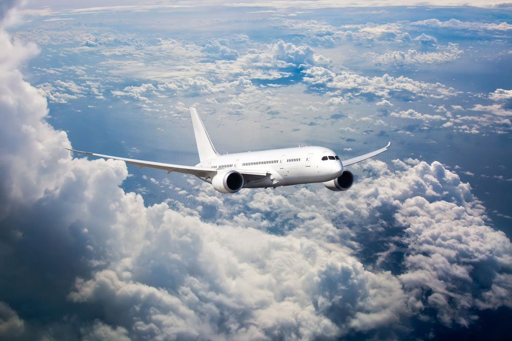 Passenger Airplane in Flight