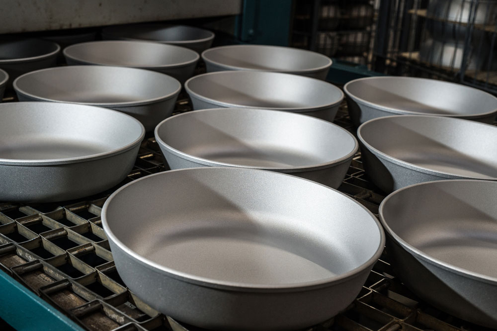Production of Non-Stick Cookware