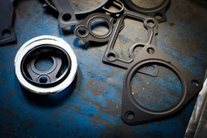 Several different cut gaskets