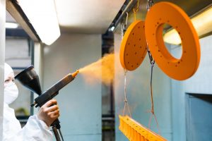 orange Powder Coating for Metal Parts