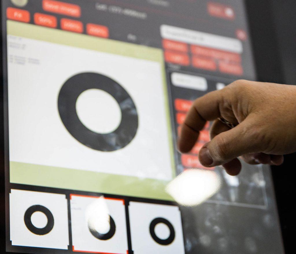 digital dashboard for custom coating
