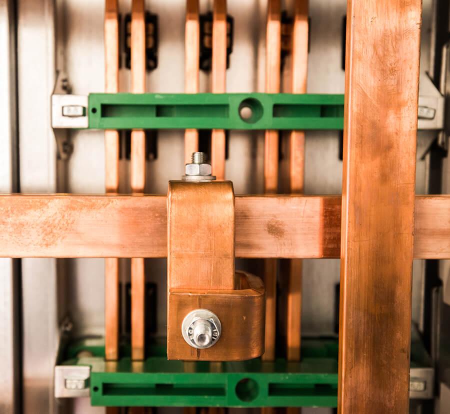 copper busbar with custom coating