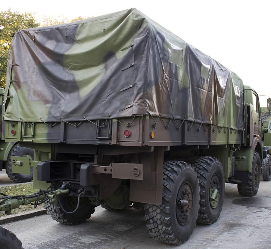 military truck on street